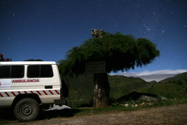 The clinic ambulance at Hatubilico